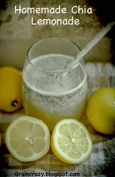 Grain Crazy: Homemade Chia Lemonade (or slushie)
