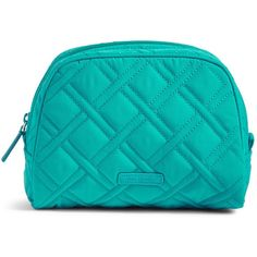 Vera Bradley Medium Zip Cosmetic Case (140 SAR) ❤ liked on Polyvore featuring beauty products, beauty accessories, bags & cases, vera vera turquoise sea, toiletry kits, toiletry bag, make up purse, travel bag and vera bradley makeup bag