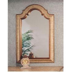 Silver and Gold Leaf Arched Mirror