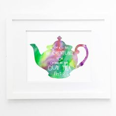 tea watercolor printable peter pan quote download tea wall art jpg tea printable tea wall art download watercolour kitchen printable