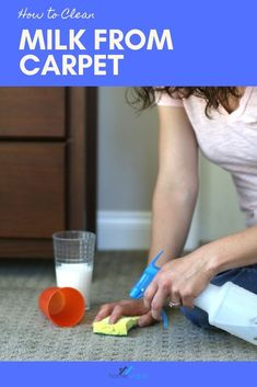 How to clean and remove milk stains out of your carpet, including tips for how to get rid of old stains, and removing the awful sour smell. #homeviable #milkstains #carpetstains #stainremoval #clean Cleaning Diy, Kitchen Cleaning, House Cleaning Tips, Diy Cleaning Products, Cleaning Solutions, Deep Cleaning, How To Get Rid, How To Remove, Pet Hair Removal