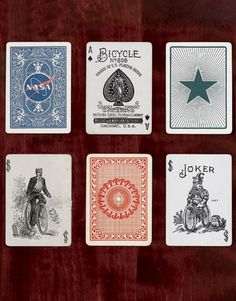 Some Great old back designs, jokers and Ace of Spades. #Playingcards