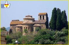 Monasterio de Sant Miquel de Cruïlles, en la comarca del Bajo Ampurdán, #Gerona #Girona