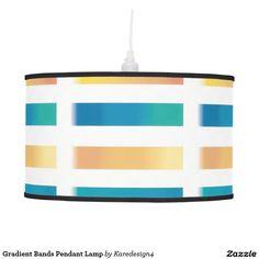 Gradient Bands Pendant Lamp