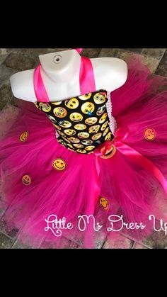 Emoji Valentine's Day tutu dress #emojiparty #emojitutu #emojis #emoji #emojilife #emojigirl #emojilove #littlemsdressup emoji birthday dress love emoji. Www.littlemsdressup.com