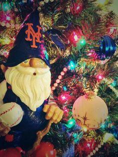 Mets Christmas Tree with Santa  Merry Metsmas  Pinterest  Trees