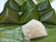 Philippine Food Illustrated: pasong (rice in banana leaf)