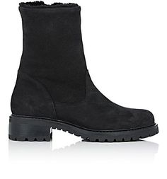a756cf3b1e3ed Barneys New York Women s Shearling-Lined Side-Zip Ankle Boots - Black
