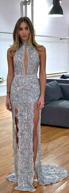 Celebrity Annkathrin Brommel looking flawless in BERTA evening dress at the new BERTA NYC showroom <3