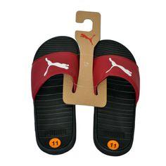 89d5349c1 SANDALS & FLIP FLOPS · Puma Men's Slide Sandals Black Burgundy White size  11 NEW #PUMA #Slides Mens Slide