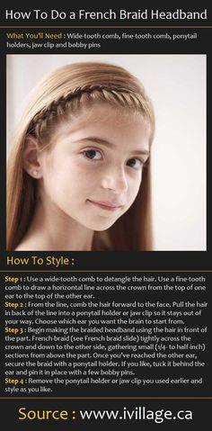 How To Style a French Braid Headband | Beauty Tutorials