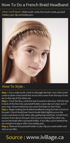 How To Do a French Braid Headband | Pinterest Tutorials