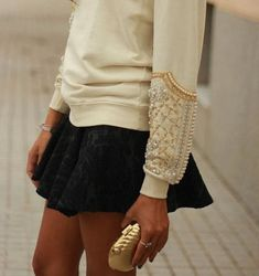 Add a little sparkle to your wardrobe with an embellished sweater! (via Yes Missy)