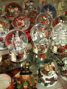 Snow Globes...love to bring out my Christmas snow globes and place them around the house for the holidays. Like old friends coming to visit for a while...they make me smile.