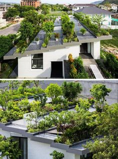 Green roof, located in Nha Trang, Vietnam, and designed by Vo Trong Nghia Architects and ICADA.  Photography by Hiroyuki Oki  -The LA Team  www.landarchs.com Ver traducción  — con Tasic Painting & Renovation.