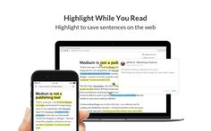 """""""Liner"""" helps you collect interesting ideas! Highlight to save sentences on the web."""