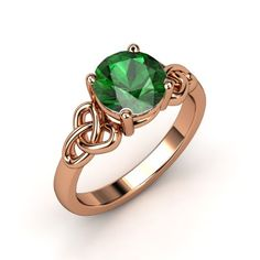 The Katarina Ring #customizable #jewelry #emerald #rosegold #ring