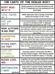 Limits Of The Human Body! Limits Of The Human Body!,Promts & Writing Limits Of The Human Body! Related posts:The Ultimate Survivor Skill Set That Every Prepper Needs – excalibur - Let's. Book Writing Tips, Writing Resources, Writing Help, Writing Prompts, Writing Ideas, Writing A Novel, Writing Websites, Story Prompts, Fiction Writing