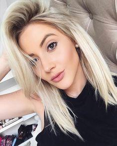 Blonde Hair With Highlights, Brown Blonde Hair, Blonde Hair Cuts Medium, Ombre Hair, Balayage Hair, Medium Hair Styles, Long Hair Styles, Hair Without Heat, Hair Color And Cut