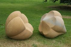 Parting Company III, Golden Limestone, Peter Randall-Page, Yorkshire Sculpture Park Art Sculpture, Outdoor Sculpture, Stone Sculptures, Peter Randall Page, Yorkshire Sculpture Park, Art Folder, T Art, Environmental Art, Stone Carving