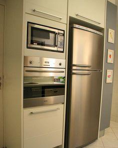 Forno e microondas embutidos #signcasa #cozinha #cozinhando #cozinhagourmet