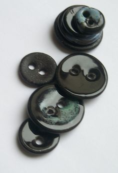 Various Black Ceramic Buttons by buttonalia on Etsy, $21.00