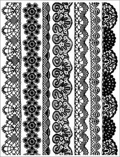 New Scrapbooking Supplies > Black Lace Borders Rub-Ons by Hambly: A Cherry On Top