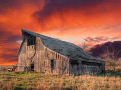 Old Barn Sunset | This is an abandoned barn in Cowley county… | Flickr
