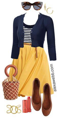 Plus Size Midi Skirt Outfits - Alexa Webb - Plus Size Midi Skirt Outfits – Spring Mustard Skirt – Plus Size Fashion for Women – alexawebb. Outfits Fo, Outfits Plus Size, Plus Size Skirts, Plus Size Casual, Spring Outfits, Fashion Outfits, Fashion Trends, Womens Fashion, Airport Outfits