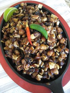 The ingredients might freak you out, but sisig is one of my favorite Filipino dishes. I can't get enough of it.