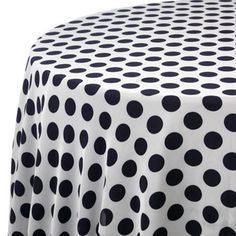 60 any color with white polka dots round table cloth only for Black polka dot tablecloth