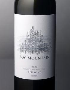Fog Mountain Wine Boisset Family Estates Wine Label & Package Design Sparkling California