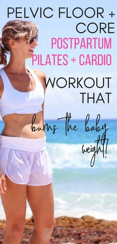 OMG NEED THIS POSTPARTUM WORKOUT!! She takes you through pelvic floor and core first, then into cardio to make sure you are engaged and healing, while also burning fat with cardio! YASS! #pilates #cardio #thepostpartumcure #postpartum #breastfeeding
