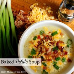 What does everyone think of this Baked Potato Soup recipe? I'm thinking I might be in need of a second lunch after seeing this... #GetCooking