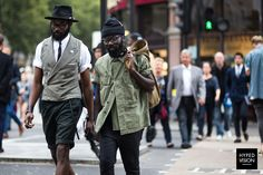 Sam Lambert, Shaka Maidoh wearing Art Comes First in London, United Kingdom during Spring/Summer 2015 - Street Style Photography by Manuel Pallhuber