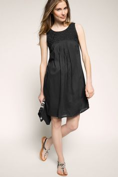 Esprit / airy smock dress with beading