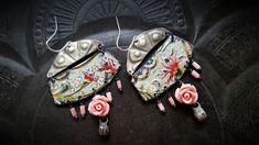 Tin Earrings, Vintage Tin, Kuchi, Banjara, Brass, Shields, Tin Flowers, Flowers, Artisan Made, Beaded Earrings by YuccaBloom on Etsy https://www.etsy.com/au/listing/587442942/tin-earrings-vintage-tin-kuchi-banjara