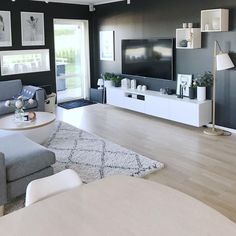 ️ Scandinave home 💫 😍 Living Room Tv, Home Staging, Decoration, Sweet Home, Gallery Wall, Interior Design, Bedroom, Furniture, Home Decor