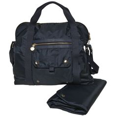 Stella Mccartney Kids Kids-girls Nylon Diaper Bag And Mat ($315) ❤ liked on Polyvore featuring navy