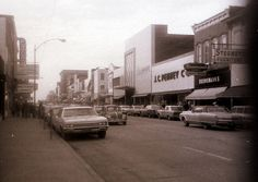 Main St., Belleville, Illinois 1969 by fluffy chetworth, via Flickr