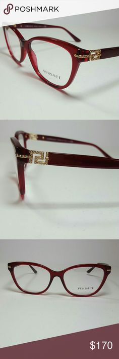 Versace Eyeglasses New and authentic  Versace Eyeglasses  Dark red frame  Size 54-16-140  Original case included Versace  Accessories Glasses