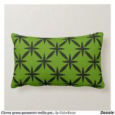 Clover green geometric trellis pattern lumbar pillow Lumbar Pillow, Bed Pillows, Green Cushions, Clover Green, Trellis Pattern, New Home Designs, Decorative Cushions, Custom Pillows, Porch