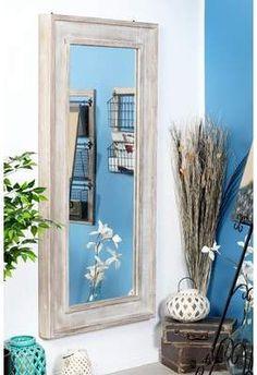 Wayfair Harrietstown Rustic Wood Rectangular Full Length Mirror #rustic #decor #mirror #mirror #affiliate
