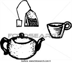 Image result for tea cup clipart black and white   copic tuts ...