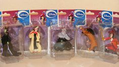 Disney Villains Figurines Gift Set - 5-pk - ONLY $19.99 - Includes: - Captain Hook (Peter Pan) - Ursula (The Little Mermaid) - Scar (The Lion King)   - Cruella Deville (1001 Dalmatians) - Maleficent (Snow White and the Seven Dwarfs) - http://aimcollectibles.blogspot.com/2011/07/disney-villains-figurines-gift-set-5-pk.html