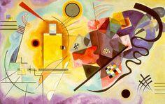 """Kandinsky e a síntese artística de seu Abstracionismo """"Amarelo, Vermelho, Azul"""" ~ Pêssega d'Oro"""