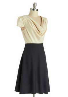Gondola Engagement Dress in Cream and Navy, #ModCloth