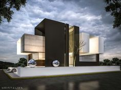 #architecture #modern #facade #contemporary #house #design