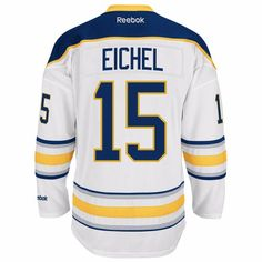 babc5b23e Jack Eichel Buffalo Sabres NHL Reebok White Official Premier Away Road  Jersey For Men