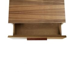 Shale Bedside Table - Modern Market - Layers of clean details. Solid wood and full grain leather pulls add storage panache and practicality to the bedroom, living room or dining room.